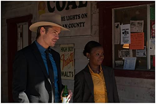 Justified Timothy Olyphant As Raylan And Erica Tazel As Rachel 8 X 10 Inch Photo At Amazon S Entertainment Collectibles Store Maybe there's an added pressure, like making sure that we're not just ending when we did talk about the show, he just wanted to know what natalie zea was like or what erica tazel was like. amazon com