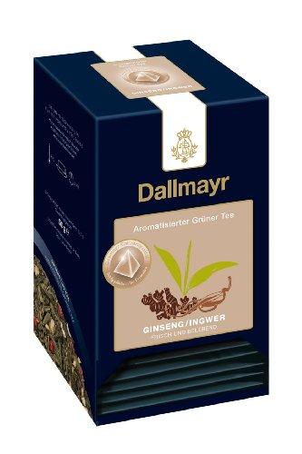 Dallmayr Teepyramiden - Grüner Tee - Ginseng Ingwer, 1er Pack (1 x 50 g)