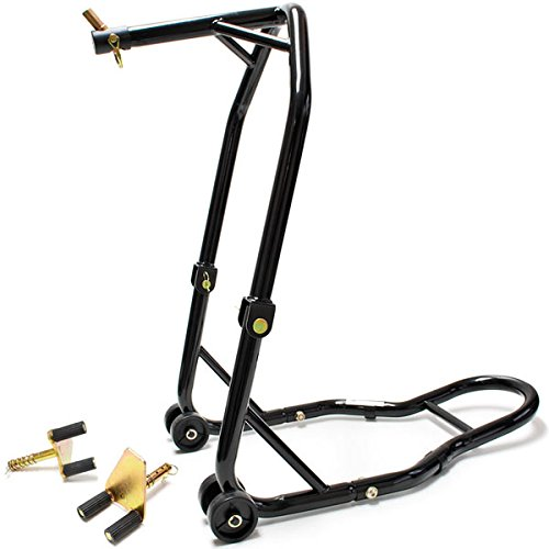 (Venom Motorcycle Triple Tree Headlift + Front Fork Wheel Lift Stand Combo For Yamaha, Honda, Kawasaki, Suzuki, Ducati, BMW - Sport Street Bike Motorcycle)