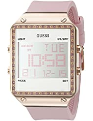GUESS Womens Digital Silicone Watch, Color: Pink (Model: U0700L2)