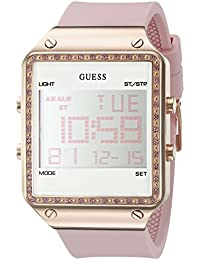 Womens Digital Silicone Watch, Color: Pink (Model: U0700L2)
