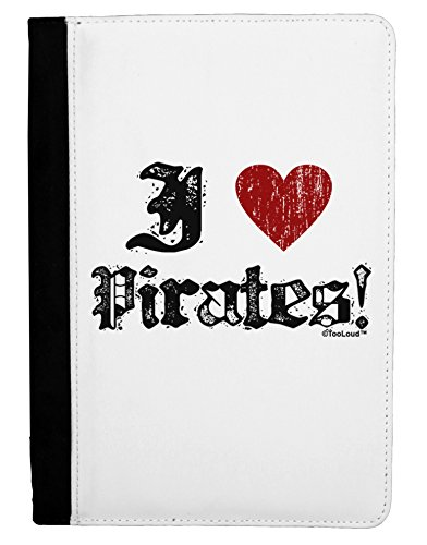 [TooLoud I Heart Pirates Ipad Mini Fold Stand Case - Black] (Somali Pirate Costume)