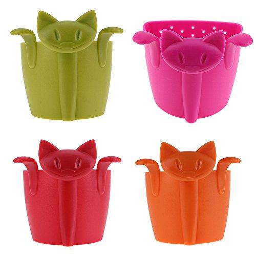 Lucrative shop Cartoon Kitten Silcone Tea Strainer Plastic Cute Cat Tea Infuser Tea Tools Kitchen
