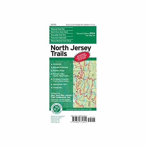 County New Jersey Map - North Jersey Trails Map: Ringwood State Park, Ramapo Valley County Reservation, Ramapo Mountain State Forest, Wawayanda State Park, Norvin Green State Forest, Pequannock Watershed