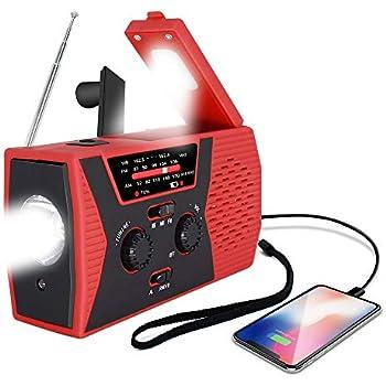 Amazon.com: Sararoom NOAA - Radio de emergencia con radio FM ...