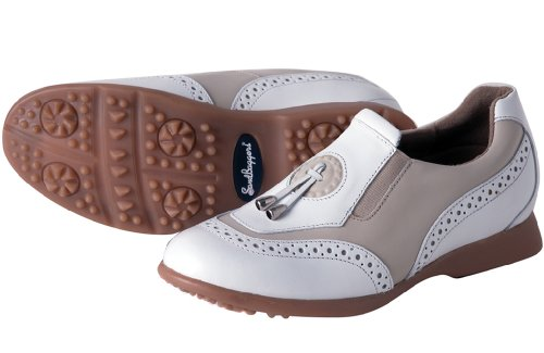 Sandbaggers Madison II Women's Golf Shoes (Almond, 7 (Sandbaggers Womens Shoes)