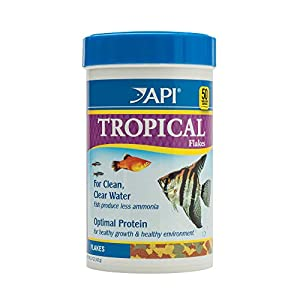 API FISH FOOD FLAKES, Formulated to help fish more readily use nutrients which means less waste and clean, clear water…