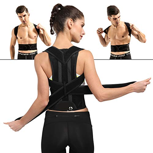 Back Brace Posture Corrector for Men and Women Adjustable Support Brace Provides Lumbar Support(23.6