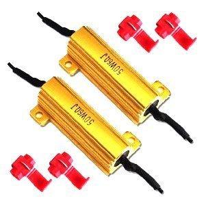 RioRand 2PCS 50W 6Ohm LED Load Resistors for LED Turn Signal Lights (Led License Plate Kit)