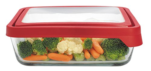 Anchor Hocking 11 Cup TrueSeal Rectangle Food Storage Container, Cherry