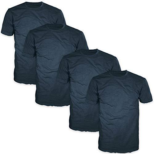 - FSD Basic Plain Crew Neck Short Sleeve T-Shirts for Men (Value Pack of 4) (Multicolor (E) Pack, XXX-Large)