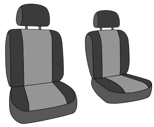 CalTrend Front Row Bucket Custom Fit Seat Cover for Select Chevrolet Silverado//GMC Sierra Models Charcoal Insert with Black Trim DuraPlus