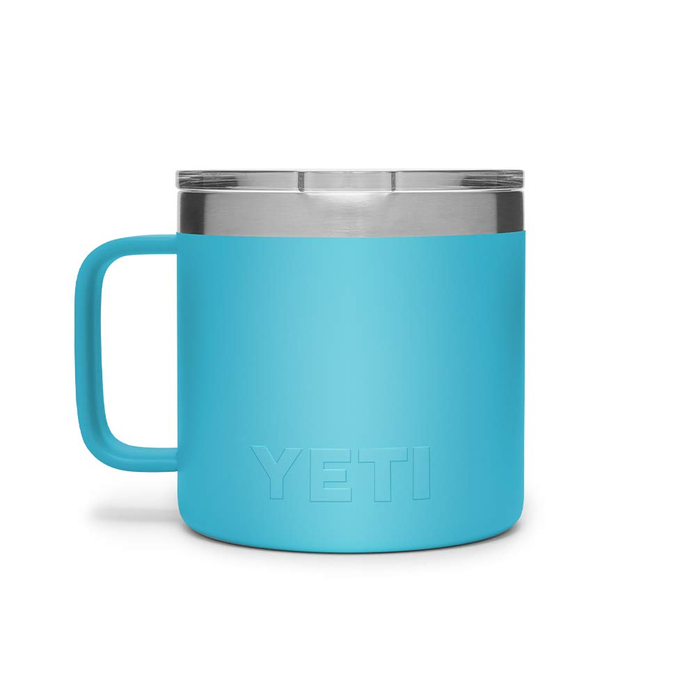 e6476969903 YETI Rambler 14 oz Stainless Steel Vacuum Insulated Mug with Lid, Reef Blue  by YETI