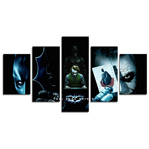 - Leyrus 5 Piece Batman and Clown Dark Knight Painting for Living Room Home Decor Canvas Art Wall Poster (No Frame) Unframed HM71 The Perfect Choice for Home Decor and Wall Decor Size: 50 inch x30 inch