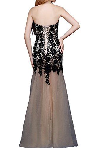 Gorgeous Bride Sexy Herz-Ausschnitt Etui Satin Tuell Spitze Lang Abendkleider Cocktailkleid Ballkleider