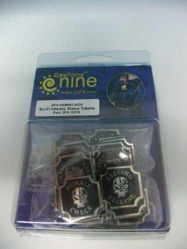 Gale Force 9 - Sci-Fi Infantry Status Token Set of 23 For Role Playing Games by (Status Tokens)