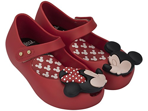 - Mini Melissa Ultragirl Disney Twins BB Mary Jane Shoe (Toddler), Red, 8 M US Toddler