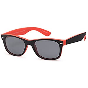 GAMMA RAY Classic Polarized Sunglasses for Kids Ages 5-10 – Orange Frame Gray Lens