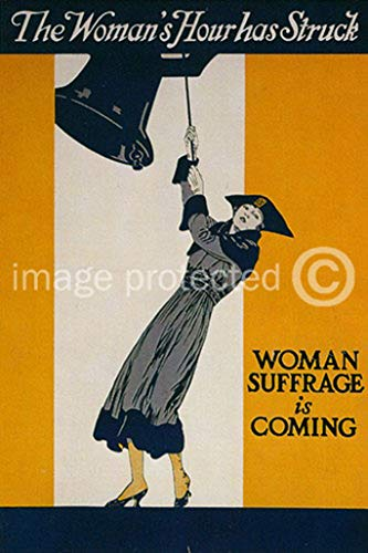 AGS - Womans Hour has Struck Vintage World War One WW1 WWI USA Military Propaganda Poster - 24x36