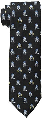 Star Wars Men's R2D2 All Over Tie, Black, One Size (Star Wars Tie)