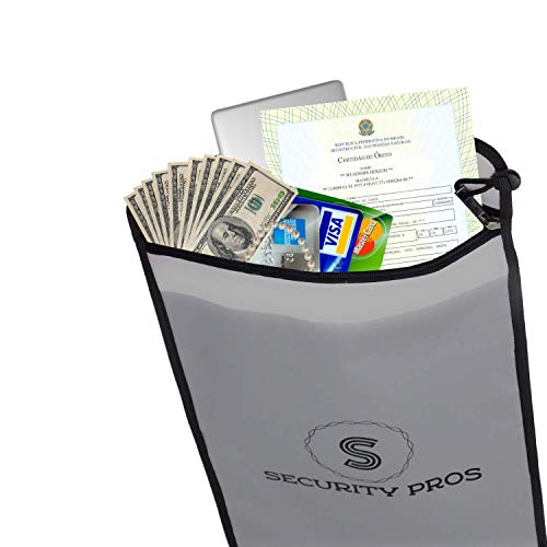Security Pros Cash Envelope Document Bag 15x11 Non-Itchy Silicone Coated Fire & Water Resistant Bag, Blast Proof for Lipo Batteries, Safe Charging and Storage, Protect Your Money, Documents, Jewelry by Flippingnickles