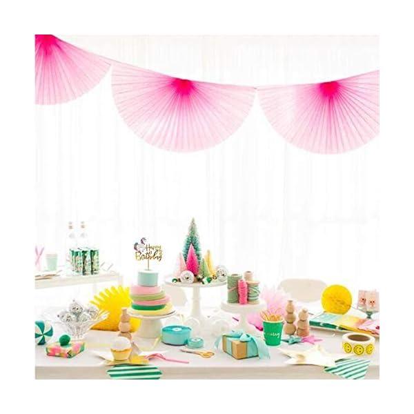 Matt Time Unicorn Happy Birthday Cake Topper Glitter for Kids Boys Girls Party Decorations Gold Acrylic 8