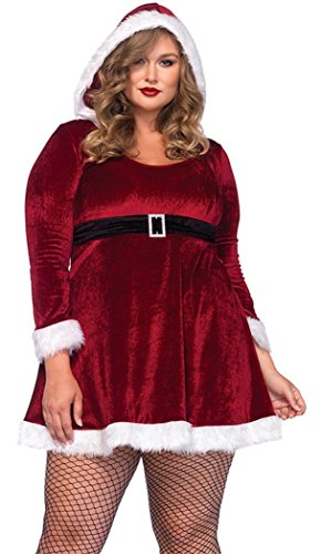 Christmas PEGGYNCO Womens Plus Size Sexy Santa Costume One Size (Plus Size Sexy Santa Christmas Costume)