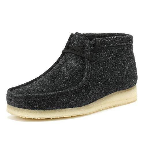 CLARKS Originals Womens Black Interest Wallabee Boots-UK 3