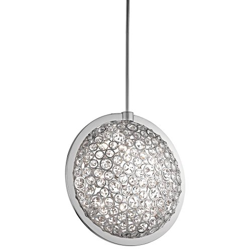 Kichler  42665CH Liscomb 8-Light Pendant, Chrome Finish with Crystal Shade