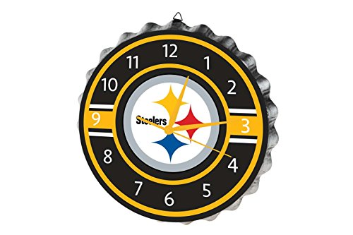 - FOCO Pittsburgh Steelers Bottlecap Clock