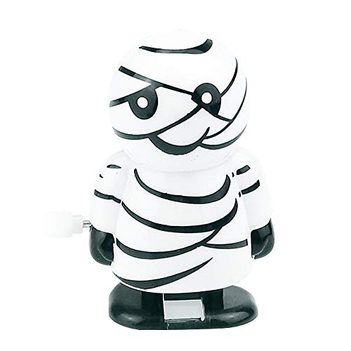 (Children Toys,Dartphew 1Pcs [ Cool Halloween Clockwork Gift Wind Up Mummy Ghost Bounce Toy ] - Educational Toys - Gift for Adults Kids Baby Boys Girls(Size:6X4cm))