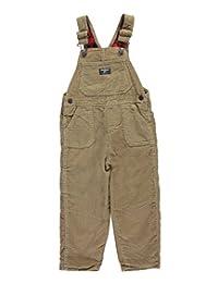 """OshKosh Little Boys' Toddler """"Corduroy Harvest"""" Flannel-Lined Overalls"""
