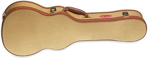 Stagg GCX-UKS Deluxe Hard Case for Soprano Ukulele - Vintage Gold Tweed