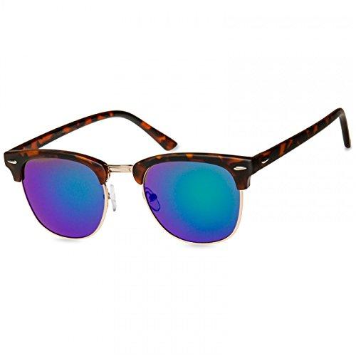 de Espejo Retro Cuerno de Gafas Verde de Unisex Sol SG040 Óptica Estilo Caspar Pw70ZZ
