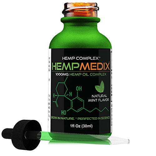 41R4 KikixL - HempMedix Hemp Oil 1,000mg Pure Full Spectrum Therapeutic Grade - Alternative Pain Relief