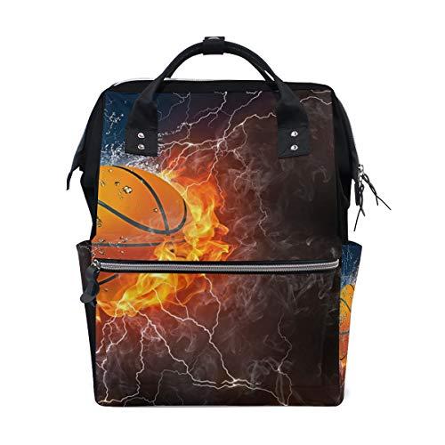 Backpack Basketball Womens Laptop Backpacks Hiking Bag Travel Daypack