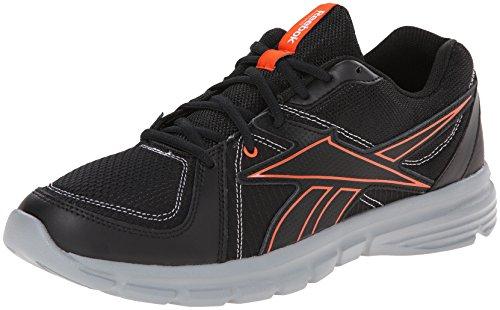 Reebok Men's Speedfusion RS L Running Shoe,Black/Flat Grey/Flux Orange/White,9 M US