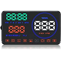Eoncore M9 5.5 Car HUD Head Up Display with OBD2 Interface Plug & Play KM/h MPH Speeding Warning Driving Distance Display With HD Image Reflection