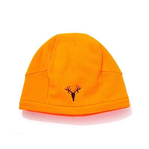 Hot Shot Men's Camo 4-Way Fleece Beanie - Blaze Orange Outdoor Hunting Camouflage