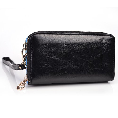 Kroo Magnetic Clutch Wallet for Samsung Galaxy Note 2 - Frustration-Free Packaging - Black
