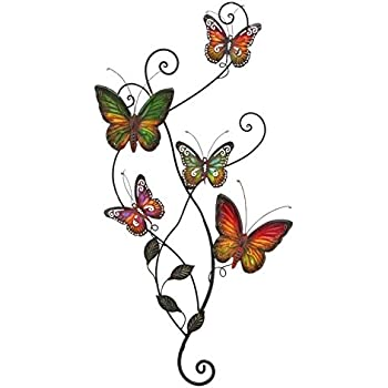 Attractive Metal Wall Decor Butterfly Sculpture 29x15