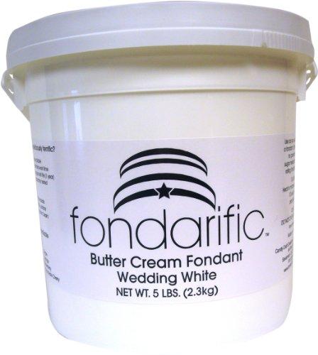 Fondarific Buttercream Wedding White Fondant, 5-Pounds by Fondarific (Image #1)