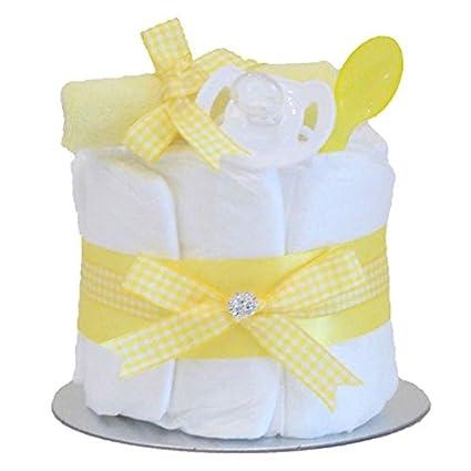 Little Cutie bebé niño Niña Unisex solo nivel - tarta de pañales ...