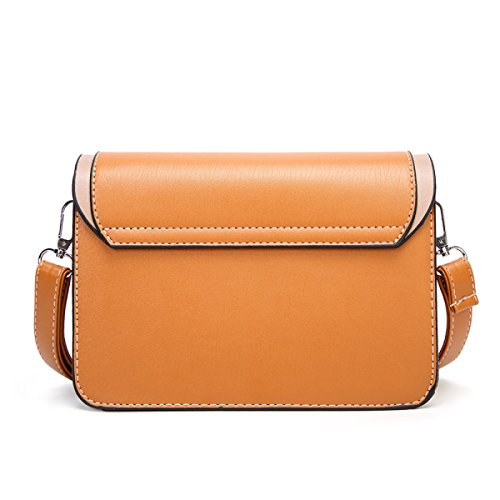 5 Piccolo Pelle Pu Messenger Colori Donna Marrone Mini Di Borsa wWTqcOW0