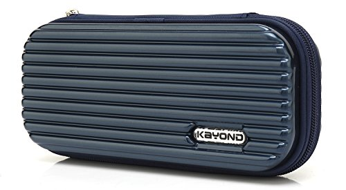 KYOND Hard Pencil Case PC Hard shell case for executive fountain pen,apple pencil,ballpoint pen,stylus touch pen (Blue) Point Pencil Case