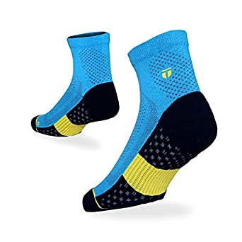 TEGO - Socks - Quarter - All Day Performance - Small (2 Pack) - Blue OY