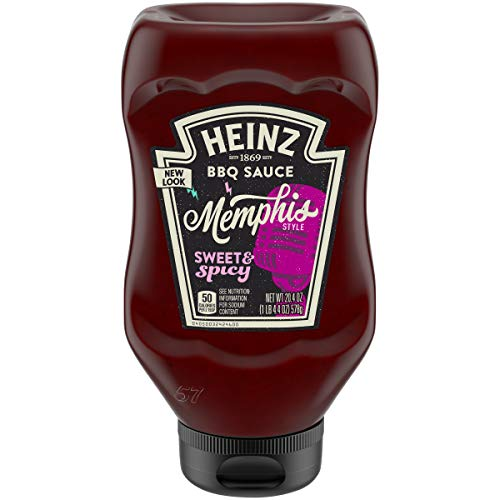 Heinz Memphis Style Sweet & Spicy BBQ Sauce (20.4 oz Bottles, Pack of 6)