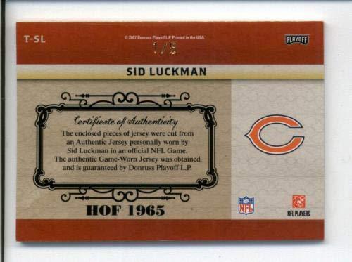 Amazon.com  Sid Luckman Bears 2007 National Treasures Timeline