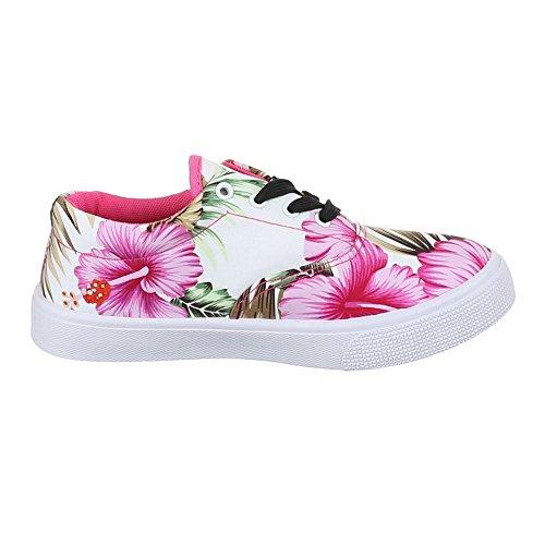 Ital-Design - Zapatillas de casa Mujer Multicolor - Weiß Multi