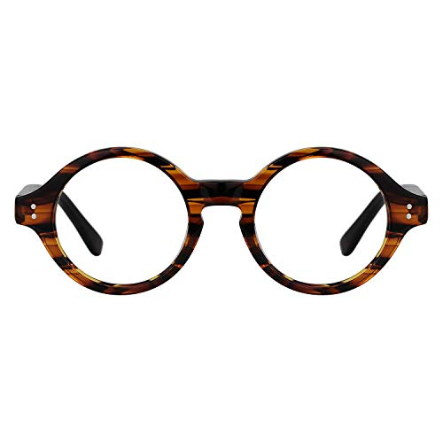 Zeelool Unisex Small Retro Acetate Round Eyeglasses Frame Giggs FA0249-01